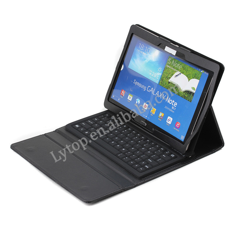 AAA Qualtiy Tablet Leather Bluetooth Keyboard Case for Samsung Galaxy Note 10.1 2014 Edition P600