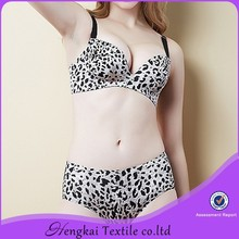 Bra size cup leopard print bra and panties <strong>sexy</strong> <strong>underwear</strong> women