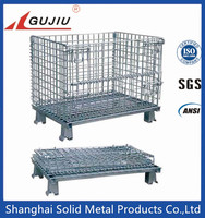 Top quality metal wire mesh container,Collapsible metal Cage,wire mesh bin box for storage