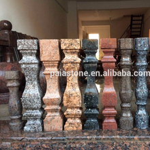 Blue Pearl Balcony Baluster polished granite landscape Rail for stair case.