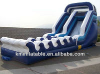 wave inflatable water slide with slip
