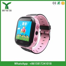 New kids watch with light gsm sos kid phone wrist watch