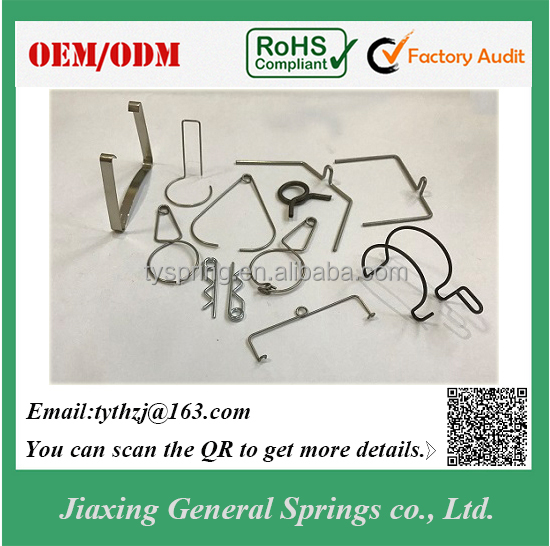 Manufacturer Custom Stainless Steel Wire and Flat Wire Spring Clips