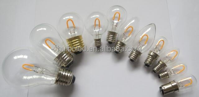 <strong>U</strong> shape filament bulbs patent led bulbs HUIBO A19 S14 C7 C9 T20 T22