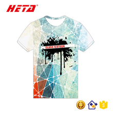 Wholesale latest deisgn color changing printing t shirt men custom t shirt brand polo t shirts