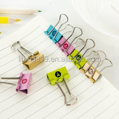 24pcs Lovely Cute Printing Style Metal Binder Clips/paper Clips LT199