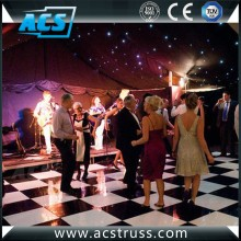 ACS High Gloss Black and White Dance Floor for wedding party