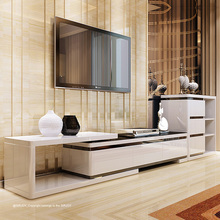 OEM orders acceptable high technology luxury wooden led tv stand furniture with showcase