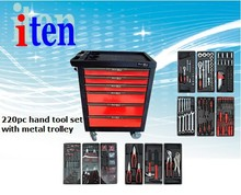 new 2014 tractor manufacturer cabinet 220pcs professional trollery tool set, hand tool box
