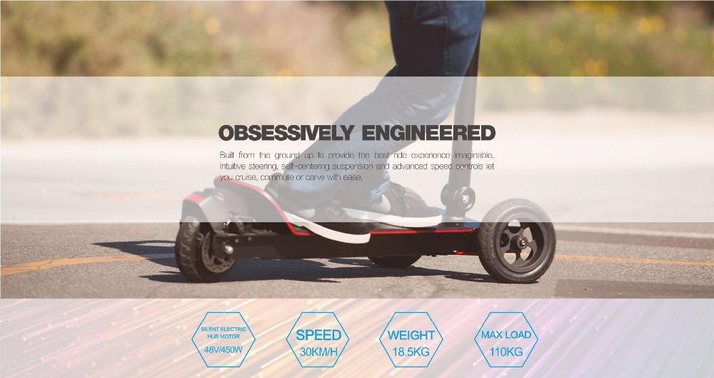folding electric 3-wheel scooter ES BOARD mini Lightweight e-scooter