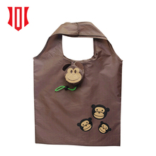 2018 Custom Folding Reusable Grocery Bag Waterproof Foldable Shopping Bag Cute Monkey Tote Bag