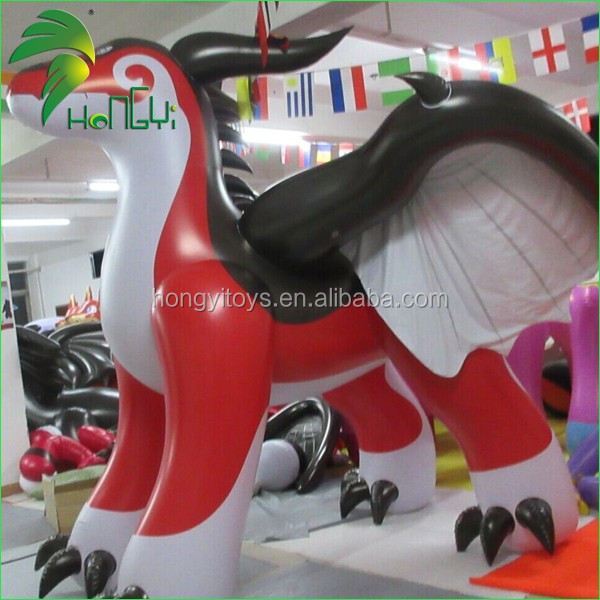 inflatable red dragon (5)