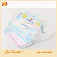 disposable baby diaper printed colored breathable sleepy baby diaper
