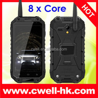 ALPS X8 IP67 Level Waterproof NFC Octa Core rugged phone with UHF walkie talkie mtk 6592 octa core phone