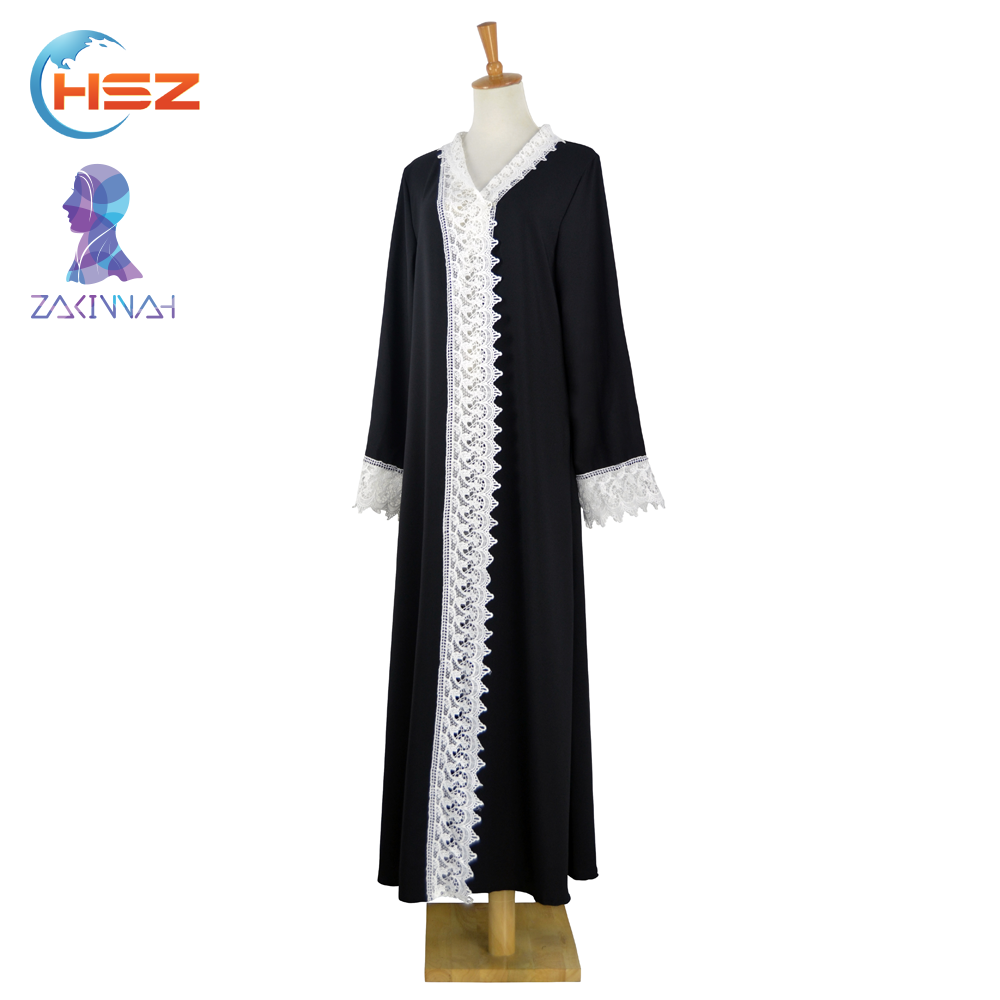 Zakiyyah E002 Latest burqa designs pictures graceful black abaya formal muslim dress
