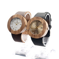 In Stock High Quality Wooden Watch Luxury Women Leather Wrist Watches japan movt quartz watches men
