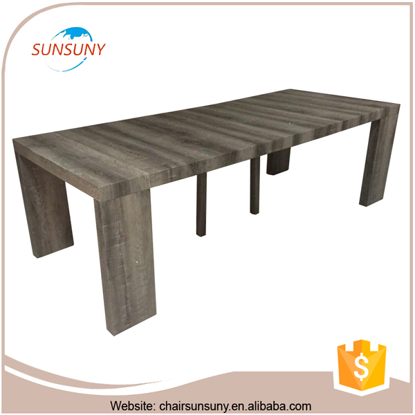 Fashional design low price modern cheap Outdoor extension table large dining extendable table