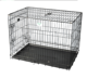 Foldable spray-treated steel wire dog cage pet supplies