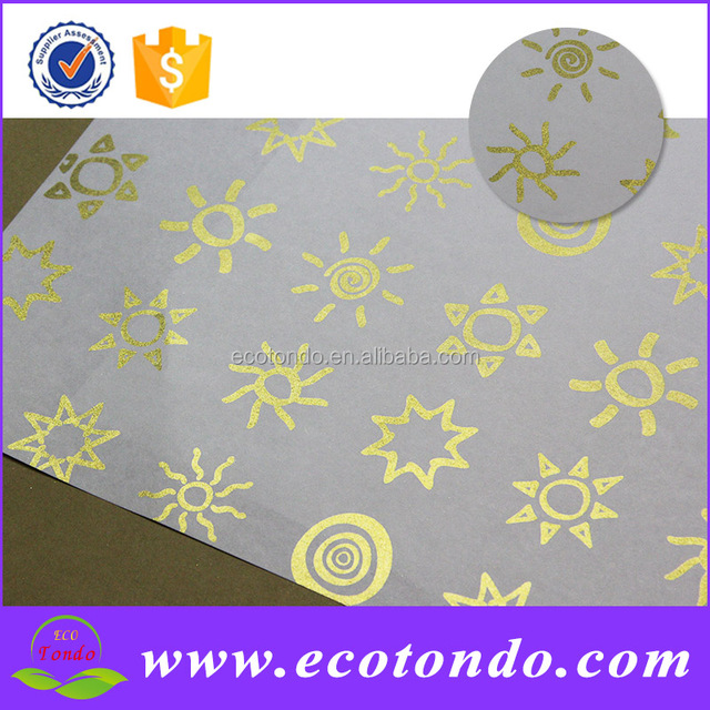 80gsm custom printed soap wrapping paper platinum paper for festival