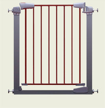 Easy Close Metal Safety Door Adjustable Baby Gate Pet Barrier Child Safety Gate