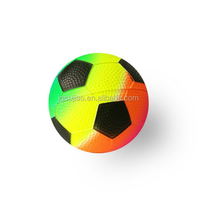 rainbow inflatable playground soccer ball for fun small toy ball