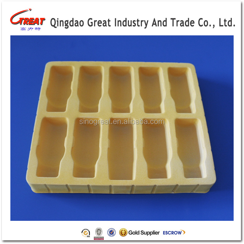 Plastic blister medical packing tray with 10 dividers