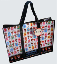 color printed pp non woven bag with zipper matte laminated bag