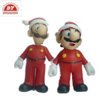 3d humorous cartoon super mario bros action figure with big nose