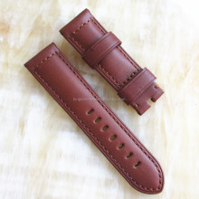 best quality watch oil leather strap pig red color