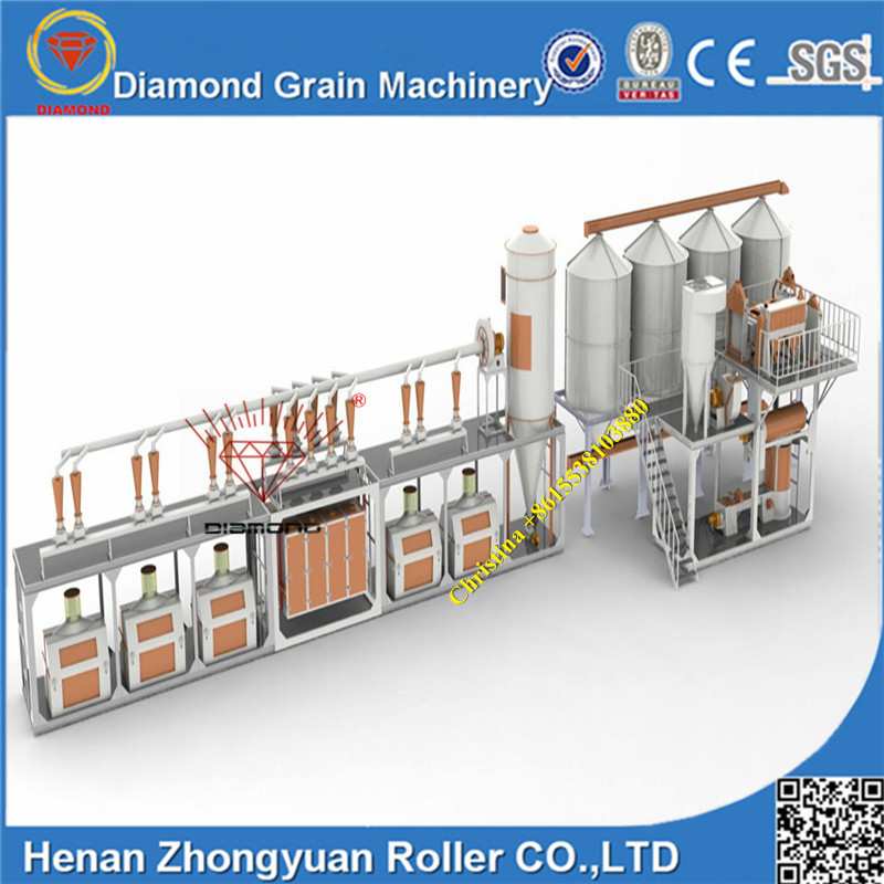 20t 30t 50t 100t 200t 500t Hot selling flour milling farina machine for make bread ,biscuit,cake
