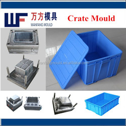 china high quality plastic crate injection mould real manufacturer