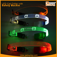 hot new products for 2015 TZ-PET9000 cat collar transparent REFLECTIVE CAT COLLARS