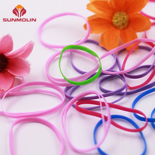 Colorful customized durable tpu elastic clear hair rubber band