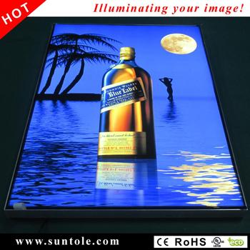 Fabric face slim light box WD10-1F frameless high bright