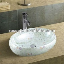 Crystal porcelain sink hand wash basin toilet basin A8125-2