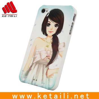 Beautiful girl design plastic cell phone case for iphone (Passed BV test)