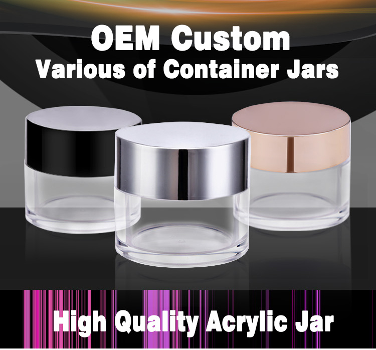 Custom Private Label Empty Acrylic Jar Dip Powder Jar 2OZ