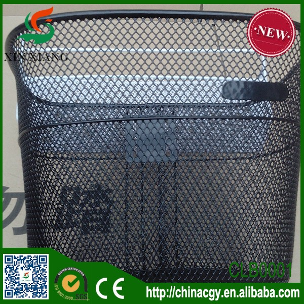 2015 steel meshing wire basket for bicycle bike basket