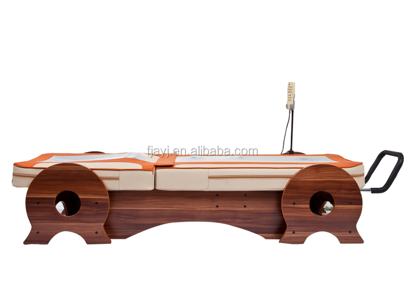 Latest design Thermal jade massage bed with jade rollers (AYJ-08A02) ceragem therapy