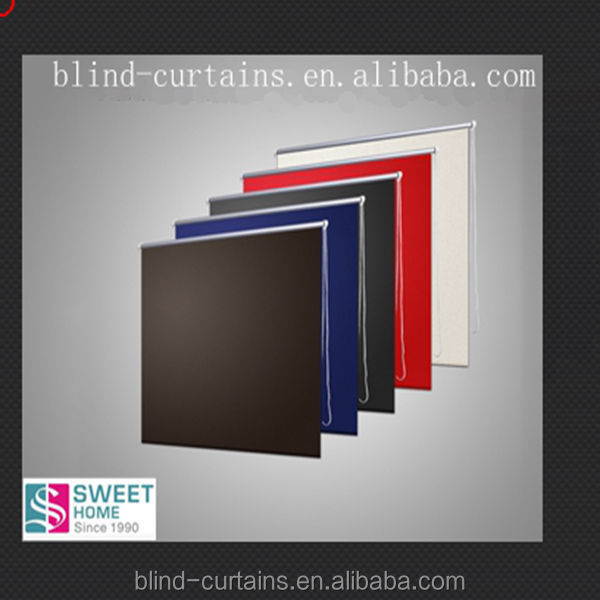 black out color fabric roller blinds for home decoration