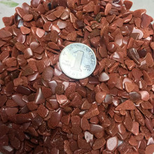 wholesale crystals red gold sand gravel semi reiki stones
