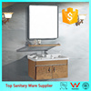Wall Mounted Double Door Stainless Steel Bathroom Corner Mirror Cabinet