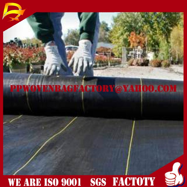 china recyced poly woven geotextile fabric for driveway PP woven fabric circular in roll polypropylene tubular fabric