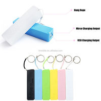 Portable Mini 2600mah Power Bank Backup External Battery Charger 18650 for Mobile Phone