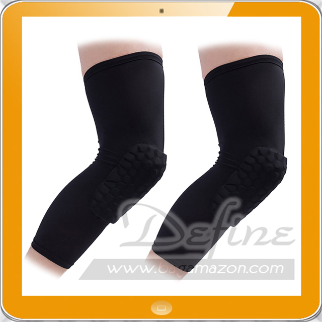 2 Packs Basketball Knee Pads Extended Compression Leg Knee Sleeve For Sports