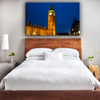 High quality printed city night scenry linghted led framne wall art picture