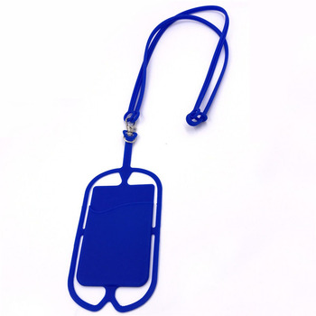 Silicone Mobile Phone Case Lanyard,Cell Phone Loop Strap With Pouch Holder
