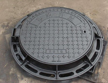 EN124 D400 round cast iron communication manhole cover