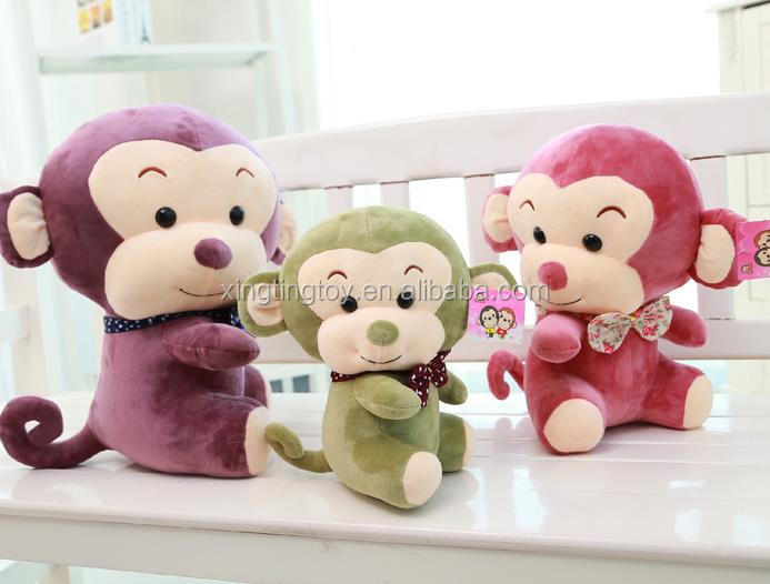Factory cheap plush baby toys monkey baby toys wholesale baby hanging toys