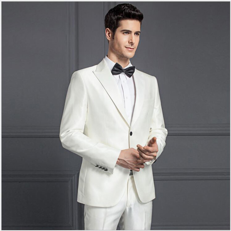 Slim Fit 2 Piece White Business
